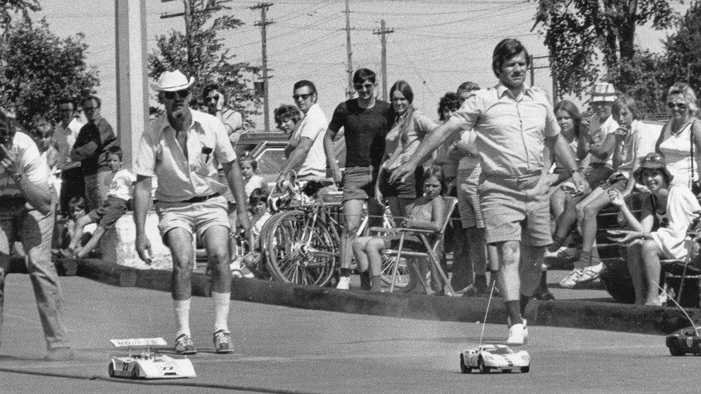 Radio-controlled racing cars in Ottawa, circa 1972